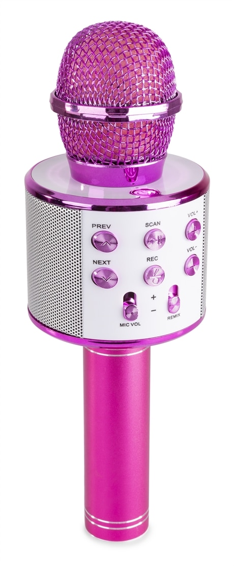 MAX KM10P Karaoke Microph. BT/MP3 Pink