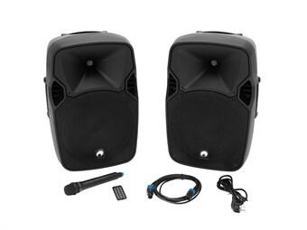 OMNITRONIC XFM-212AP Active 2-Way Speaker Set with Wireless Microphone add668d96ea7d
