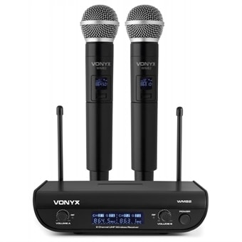 Vonyx WM82 Digital UHF 2-Channel Wireless Microphone Set with 2 Handhelds 9e3cf17561fe1