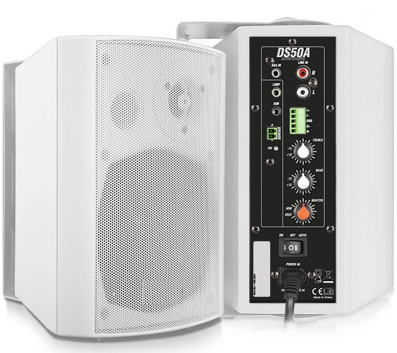 PD50AW Installationshögtalare, vit, BT
