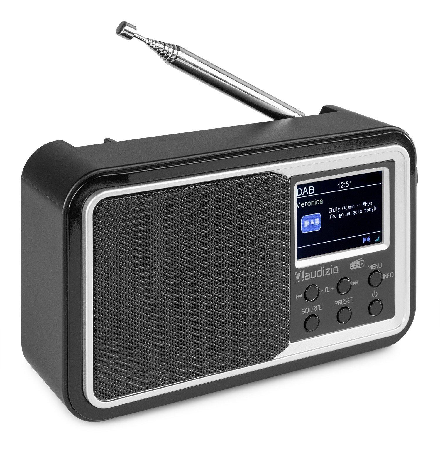 Audizio Parma Portable DAB+ Radio Black