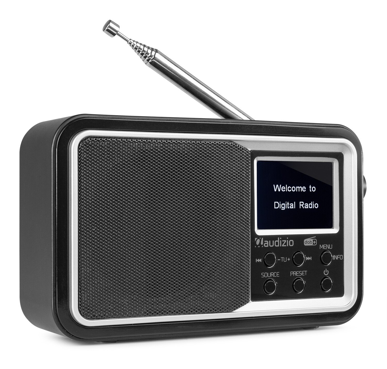 Audizio Anzio portabel DAB+ Radio med batteri, Svart