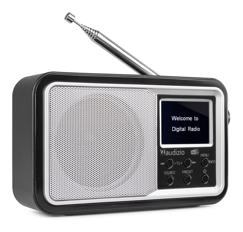 Audizio Anzio portabel DAB+ Radio med batteri, vit/silver