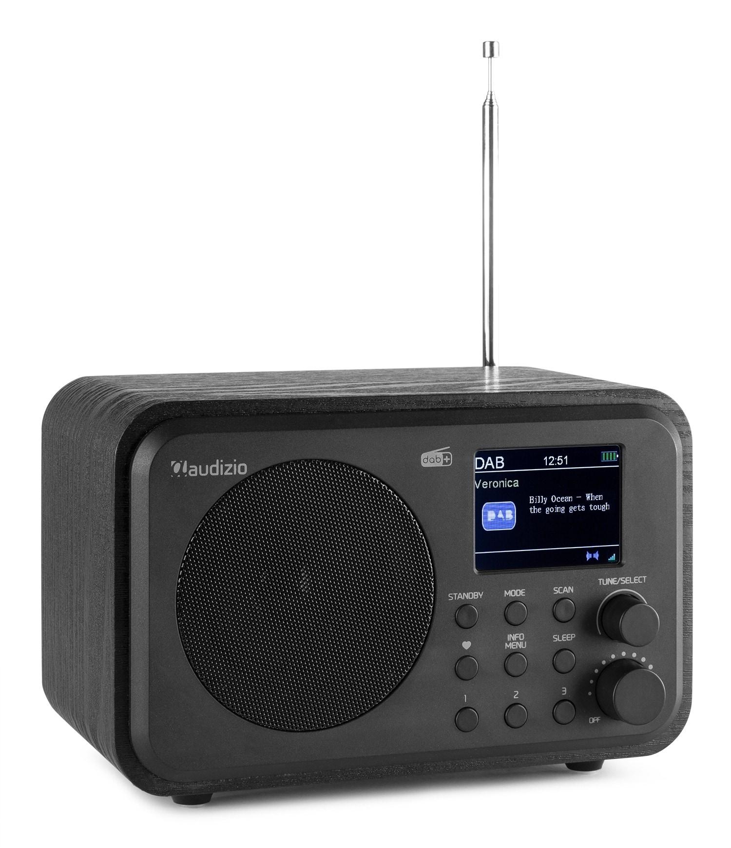 audizio Milan DAB, radio med batteri, Svart