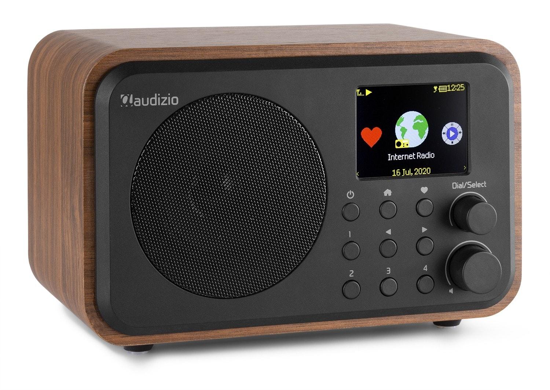 Audizio Venice WIFI Internet radio med batteri, trä