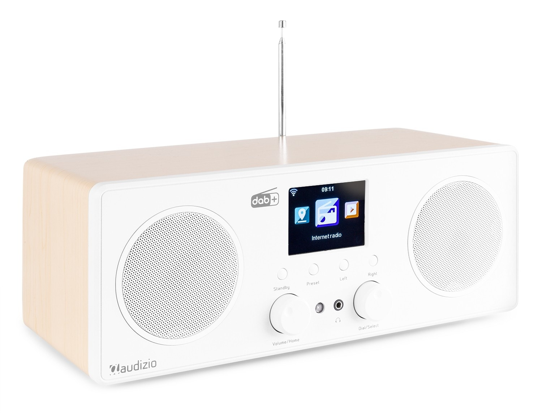 Audizio Bari WIFI Internet stereo radio med DAB+, vit