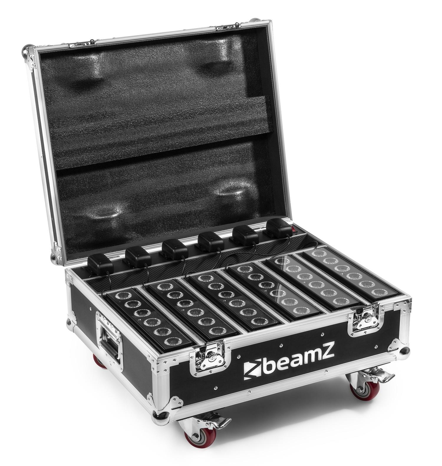 Beamz   FCC12 FlightCase för 6x BBB612