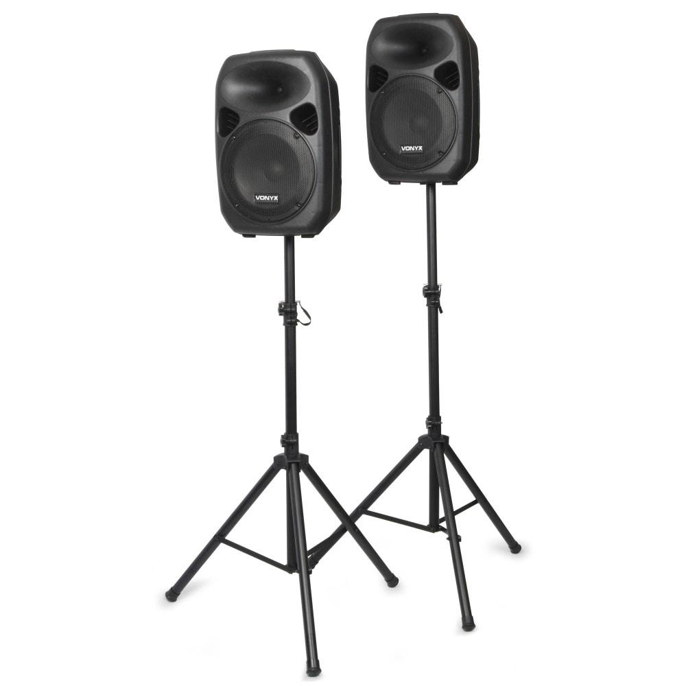"""Vonyx SPS122 Aktiva högtalarset12""""+stativ"""
