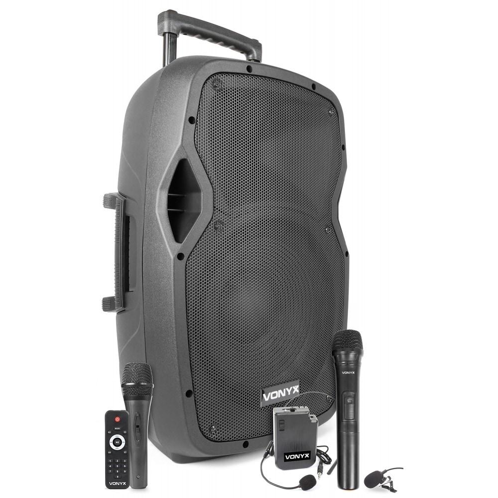 """Vonyx AP1200PA Mobil förstärkare/högtalare  12"""" BP-HH-UHF/"""