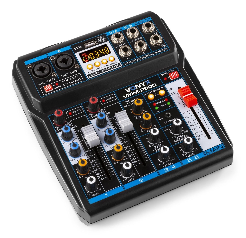Vonyx VMM-P500 4 kanaler musik mixer 4Ch/BT/MP3/US