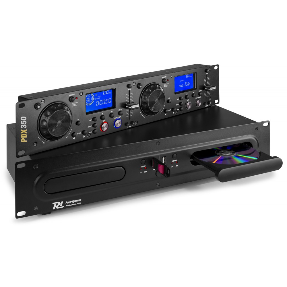 Power Dynamics PDX350 DubbelCD, MP3, USB
