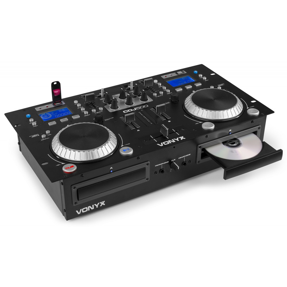 Vonyx CDJ500 Dubbel CD/MP3/USB/BT Förstärkare.S