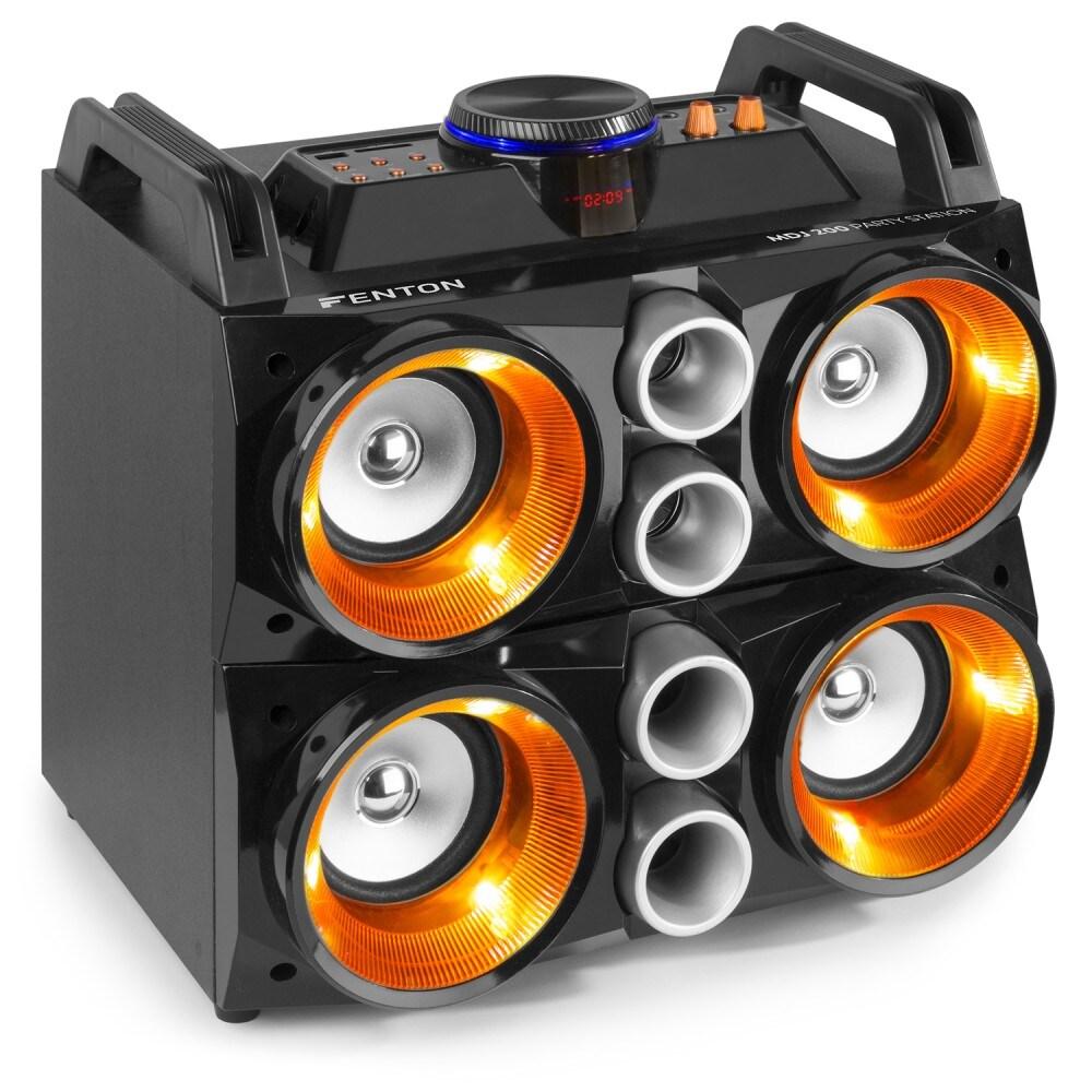 Fenton MDJ200 PartyStation 150W batteri el. 230V, Blåtand