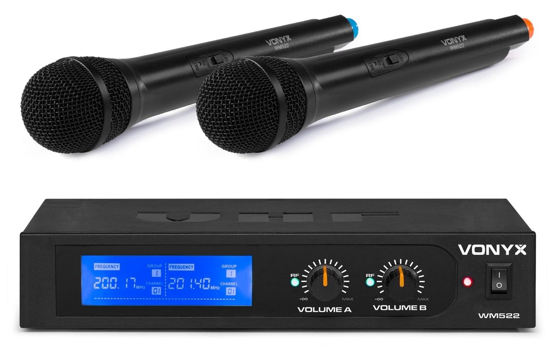 Vonyx WM522 Trådlös Mikrofon, 2 kanaler handhållna