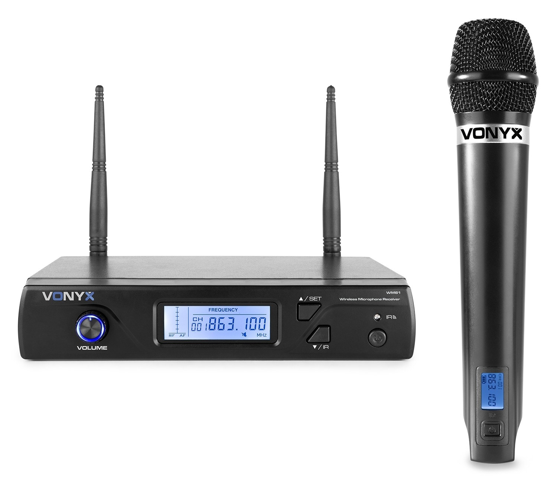 Vonyx WM61 Trådlös mikrofonsystemUHF 16kanaler 1 Mikrofon