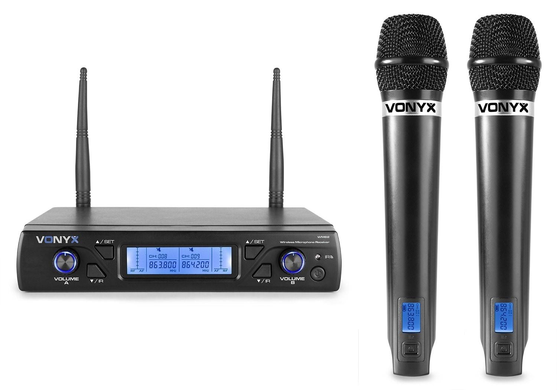 Vonyx WM62 Wirel.Micro UHF 16 Ch 2 Micro