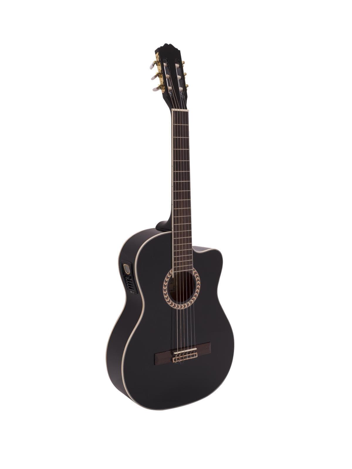 DIMAVERY CN-600E Classical guitar, schwarz