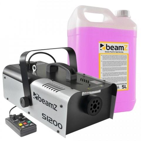 BeamZ Paket med rökmaskin och rökvätska