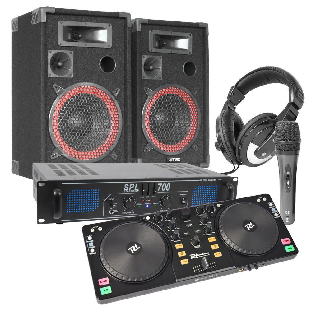 DJ Paket med Midi-kontroller och högtalare