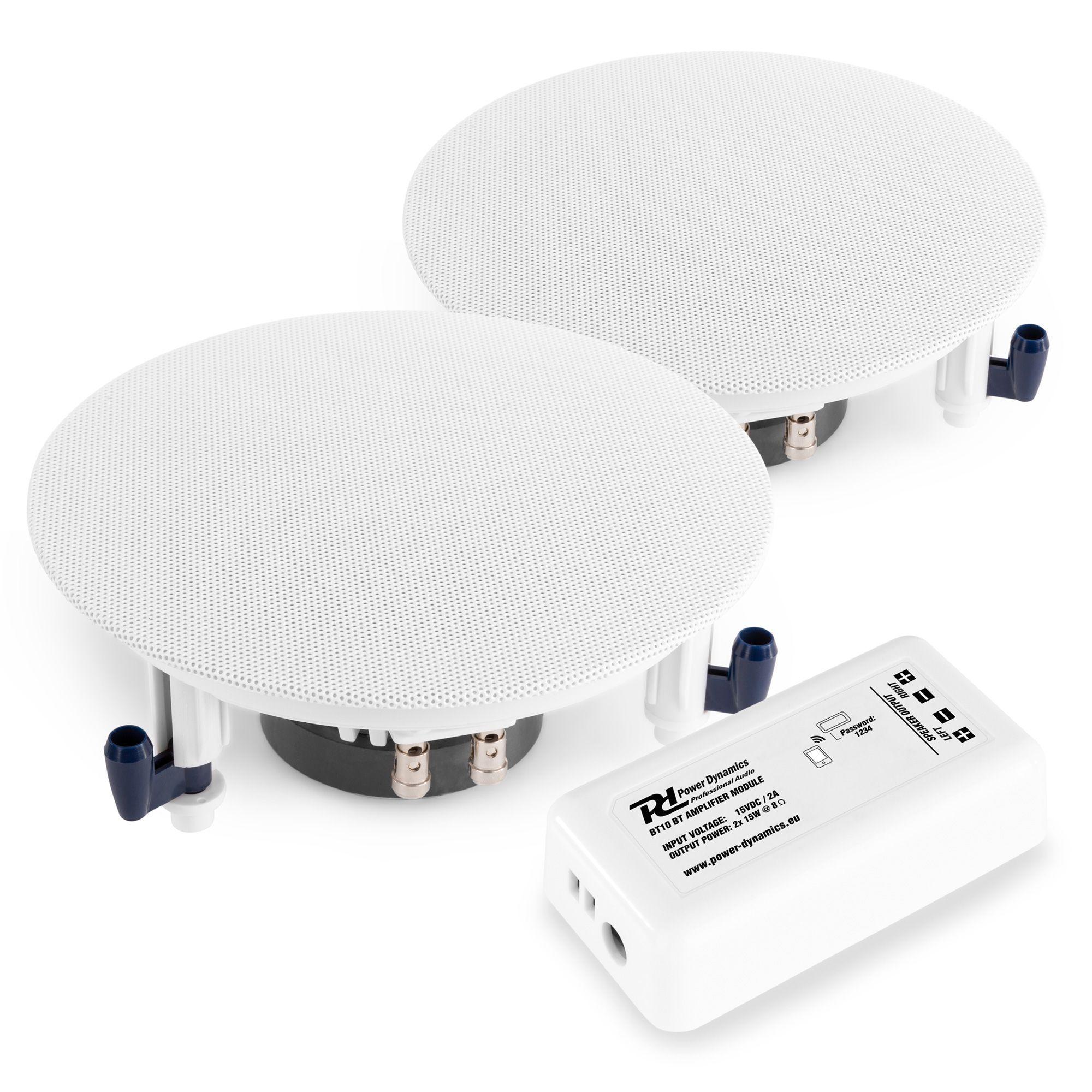 Ljudpaket med 2st ESCS5 inbyggnadshögtalare + BT10 Bluetooth-förstärkare