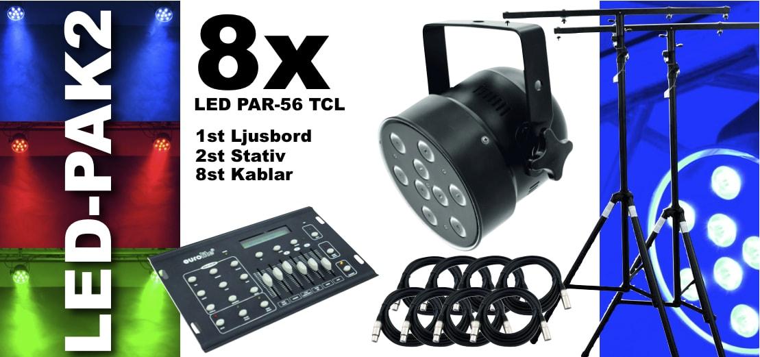 LED-LJUSpak2-PAR-56 TCL-svart