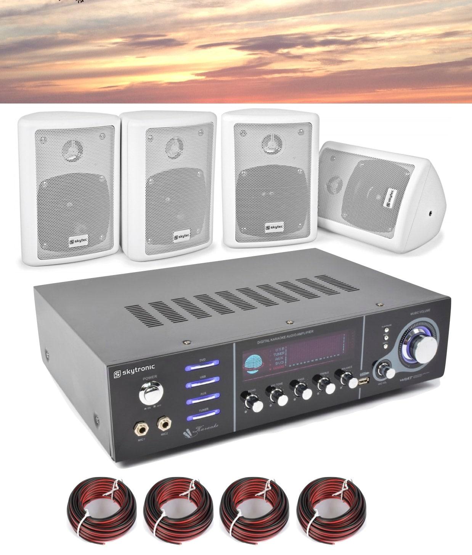 Ljudpaket med förstärkare USB/Mp3 och 4st högtalare