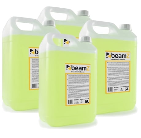 4-pack BeamZ Smokefluid 5L Standard Yellow