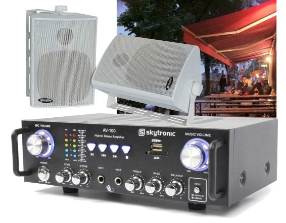 Ljudpaket AV-100 Förstärkare + 2st högtalare