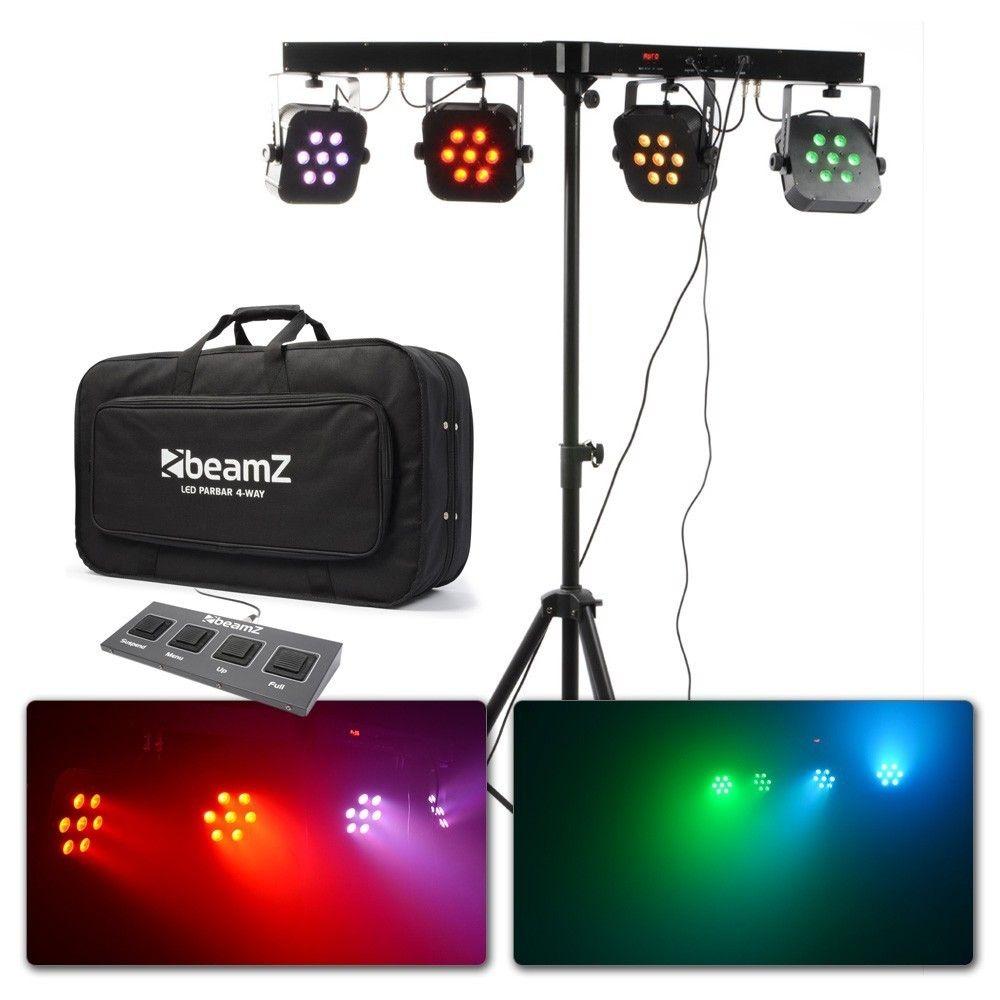 BeamZPro LED PARBAR 4Way Kit 7-10W Quad DMX