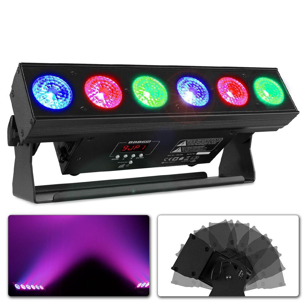 Beamz   BBB612 LED Bar 6x12W 6in1 LiBatt.