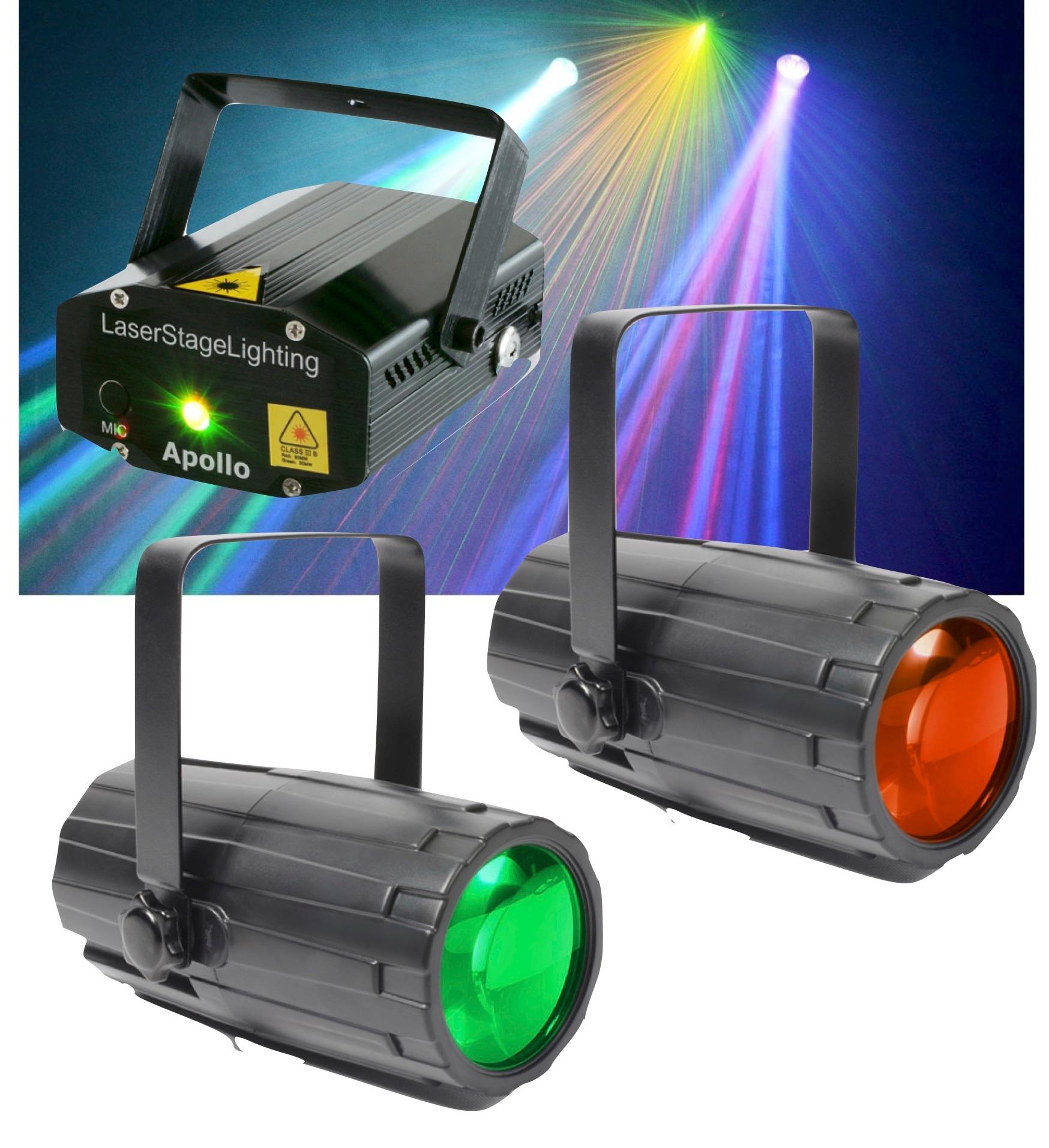 Beamz Light Package 2: Moon Duo + Laser R/G