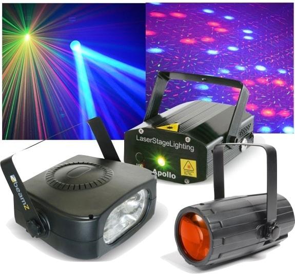 Beamz Light Package 4: Moon+LaserR/G+ 150Wstrobo