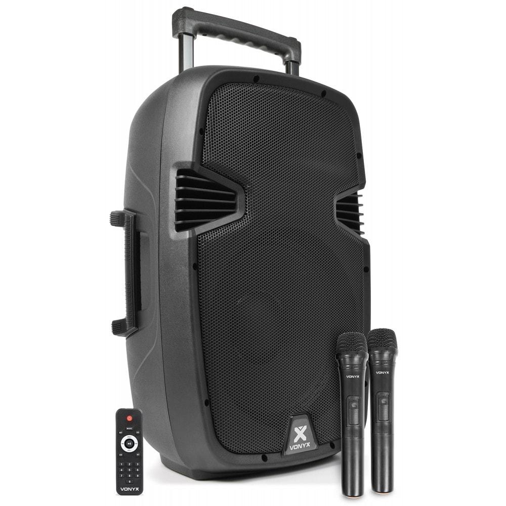 "Vonyx SPJ-PA912 Mobile Amp ABS 12"" 2 UHF"