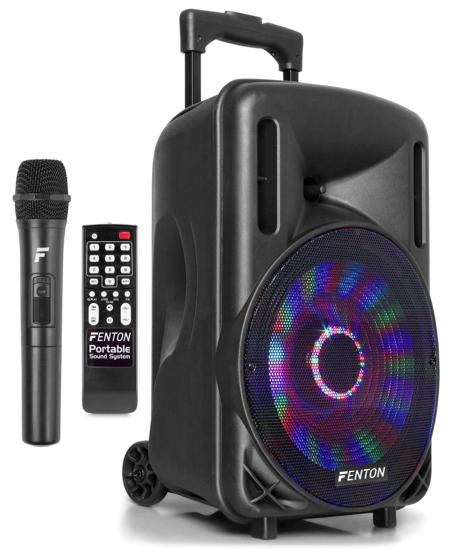 """Fenton FT10LED mobilt högtalarsystem 10"""""""