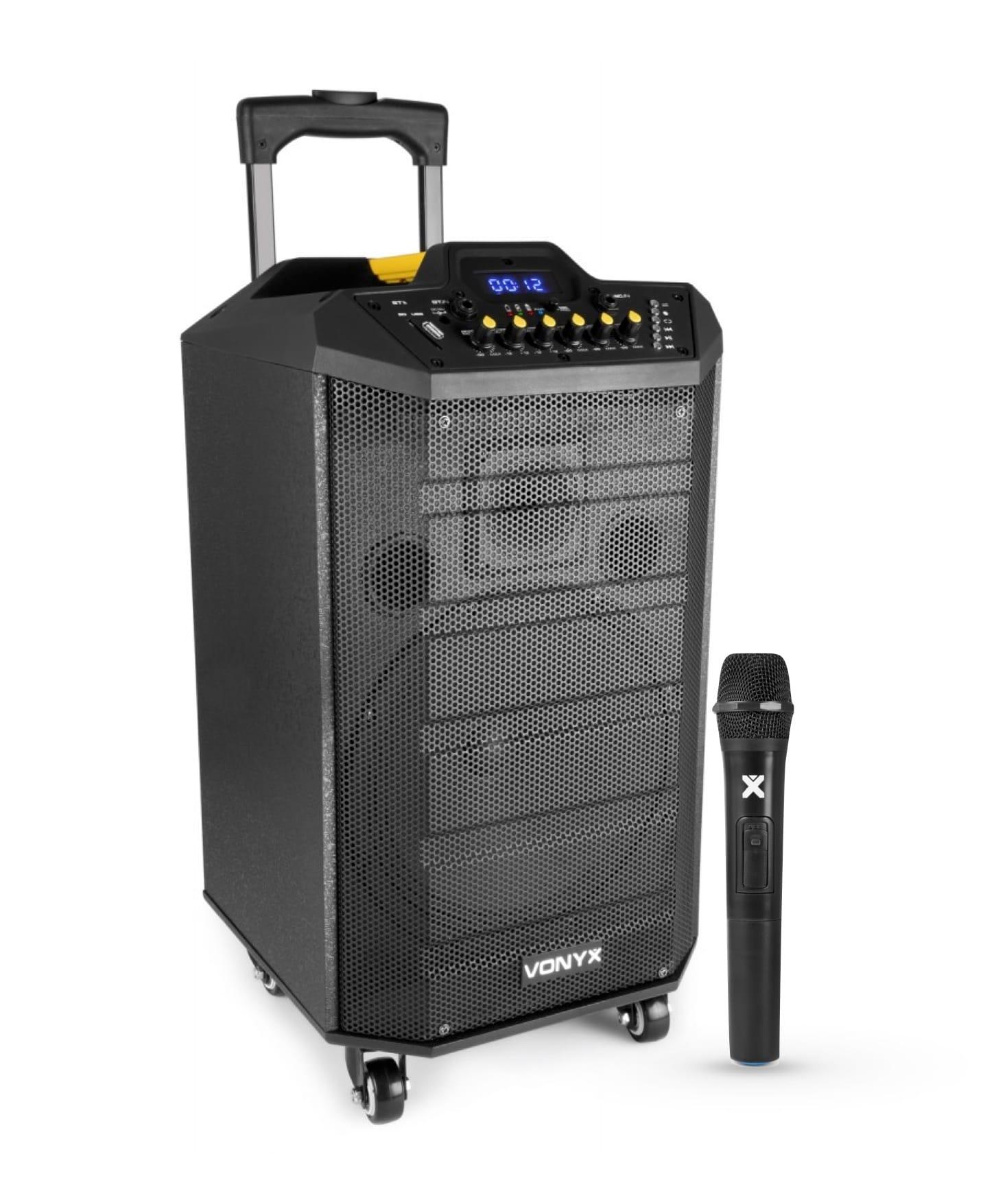 """Vonyx VPS10 Port. System 10"""" BT,MP3, UHF"""