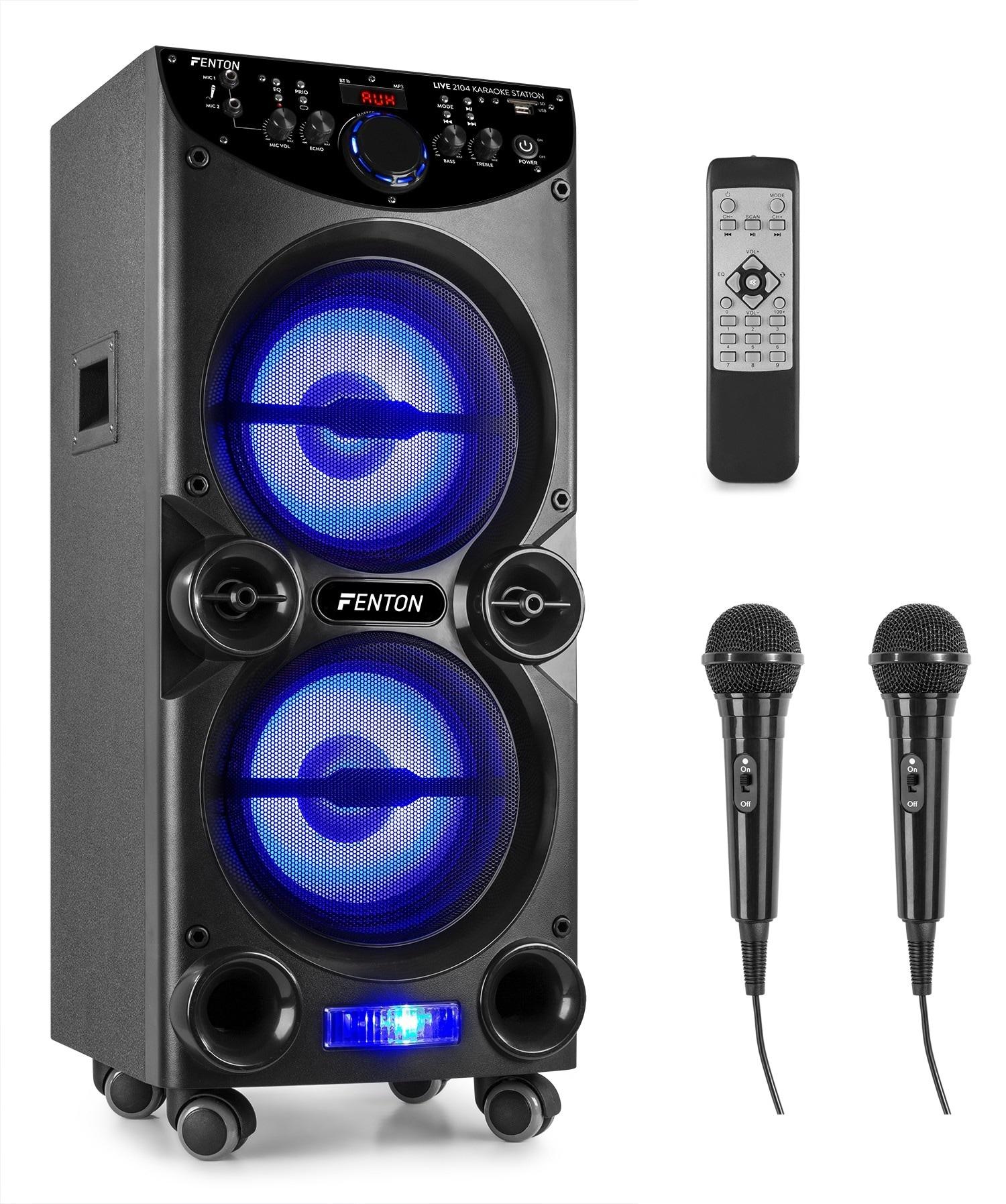 "Fenton LIVE2104 karaoke Party station, 2x10"", USB, Mikrofon"