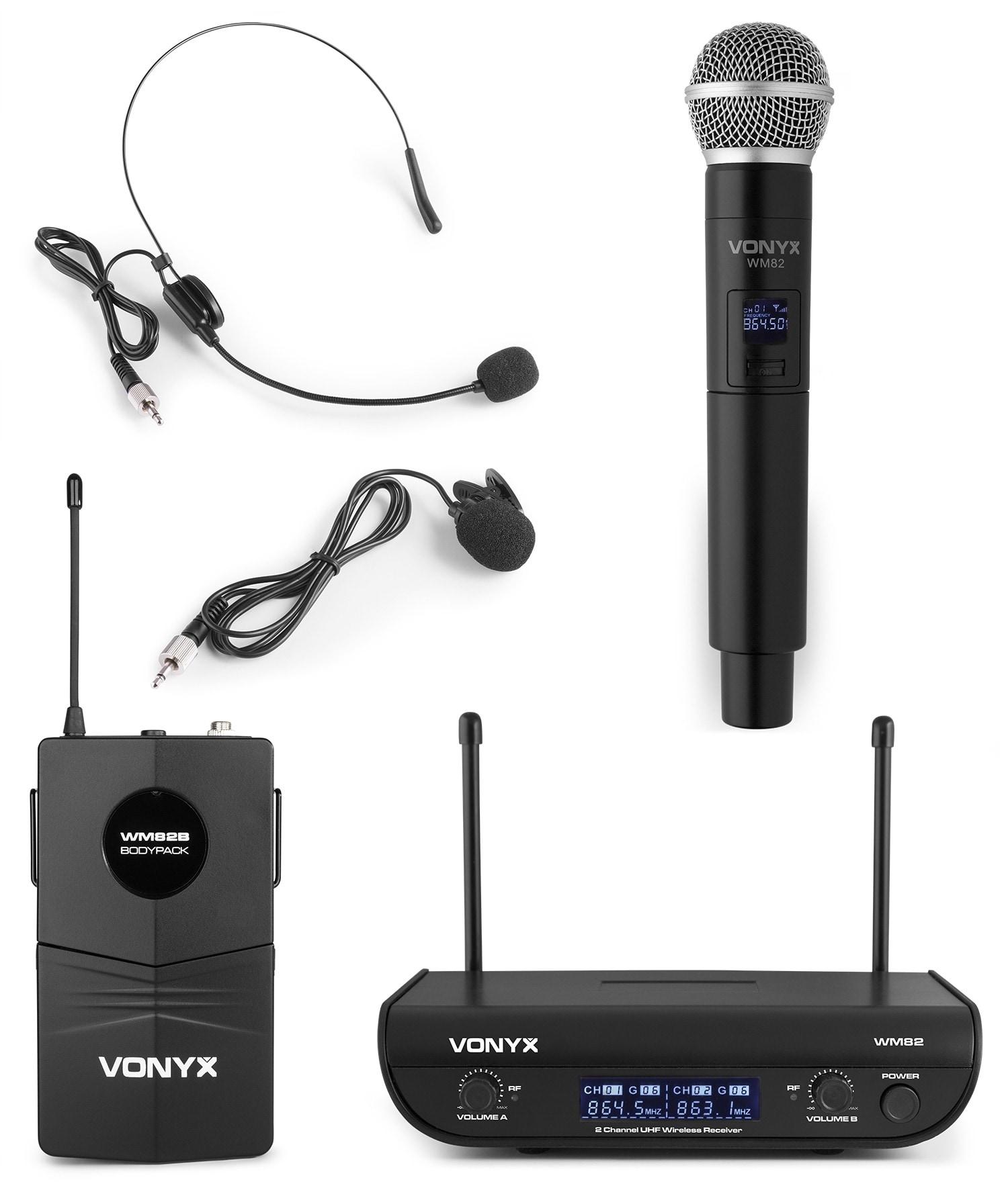 Vonyx WM82C Mikrofon UHF digital 2ch BP+HH