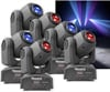 6-pack BeamZ Panther 25 Led Spot Moving Head IRC MKII